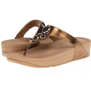 Fitflop Lunetta bronze with jewels